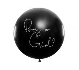 """Liels balons """"Kas piedzims?"""", ar rozā konfeti (1 gab./1 m)"""