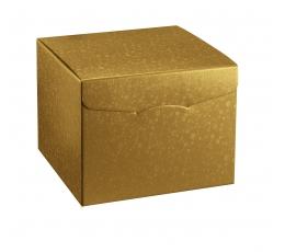 Dāvanu kaste, zelta (20X20X18 cm)