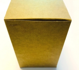 """Dāvanu kastīte """"Kraft"""", saliekama (10x10x16 cm) 1"""