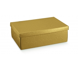 Dāvanu kastīte ar vāku, zelta (30X23X11 cm)
