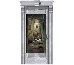 """Durvju plakāts """"Bīstami uz ielas"""" (165 x 85 cm)"""