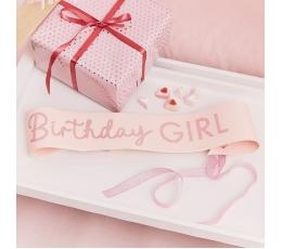 """Dzimšanas dienas lente """"Birthday girl"""", rozā"""