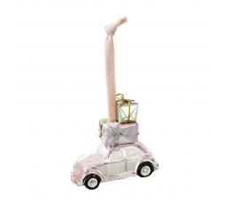 """Eglītes rotājums """"Rozā mašīna"""""""