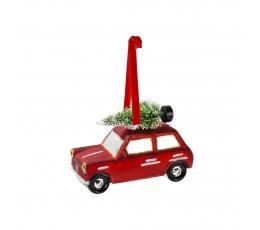 """Eglītes rotājums """"Ziemassvētku mašīna"""""""