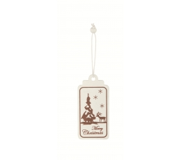 """Etiķets-dekorācijas """"Merry Christmas"""" (6 gab)"""