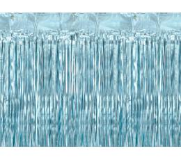 Folija aizkari- lietutiņš, gaiši zili (90x250 cm)