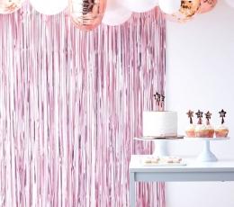 Folija aizkari, maigi rozā (220x91 cm) 1