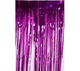 Фольгированные занавески, розовые (250 х 100 см)