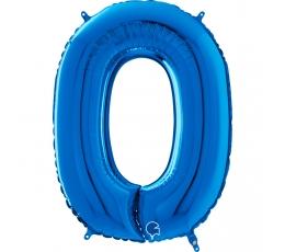 """Folija balons """"0"""", zils (66 cm)"""