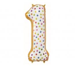 """Folija balons """"1- Saldumi"""" (78 cm)"""