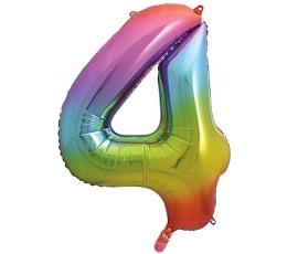 """Folija balons """"4"""" varavīksnes krāsās (86 cm)"""