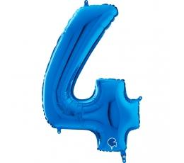"""Folija balons """"4"""",zils (66 cm)"""