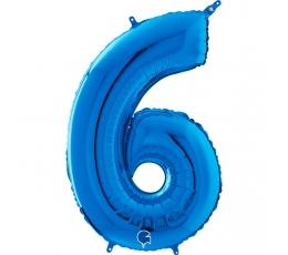 """Folija balons """"6"""", zils  (66 cm)"""