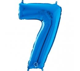 """Folija balons """"7"""", zils (66 cm)"""