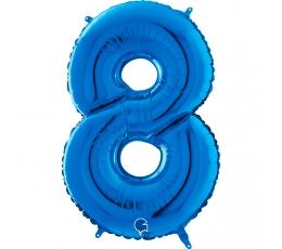 """Folija balons """"8"""", zils (66 cm)"""