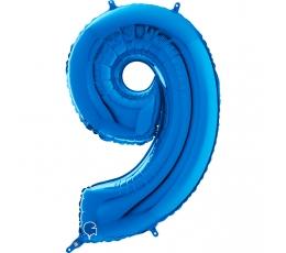 """Folija balons """"9"""", zils (66 cm)"""
