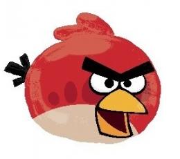 """Folija balons """"Angry Birds / sarkans"""" ( 58 x 51 cm )"""