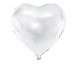 "Folija balons ""Balta sirds"" (45 cm)"