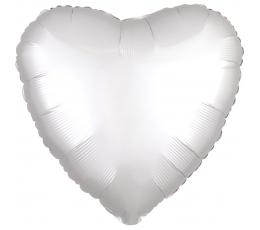 "Folija balons ""Balta sirds"", matēta (43 cm)"