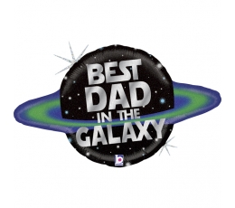 "Folija balons ""Best Dad in the Galaxy"" (79 cm)"