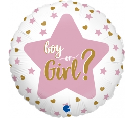 "Folija balons '""Boy or Girl?"" (46 cm)"