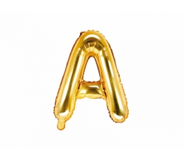 "Folija balons -burts ""A"", zelta (35 cm)"