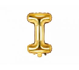 "Folija balons -burts ""I"", zelta (35 cm)"