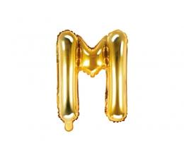 "Folija balons -burts ""M"", zelta (35 cm)"