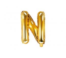 "Folija balons -burts ""N"", zelta (35 cm)"