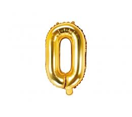 "Folija balons -burts ""O"", zelta (35 cm)"