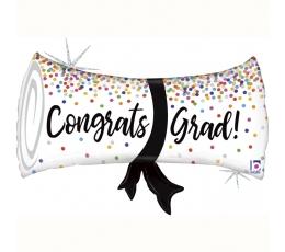 """Folija balons """"Congrats, Grad!"""" (79 cm)"""
