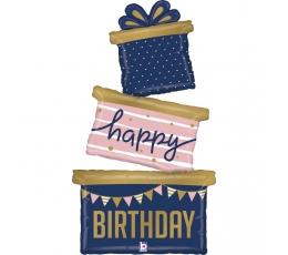 """Folija balons """"Dāvanas dzimšanas dienā"""" (130 cm)"""