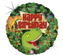"""Folija balons """"Dzimšanas diena ar dinozauriem"""" (46 cm)"""