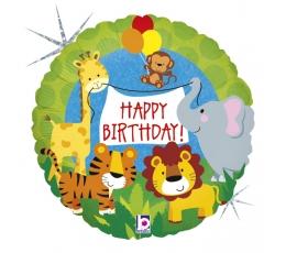 """Folija balons """"Dzimšanas diena džungļos"""" (46 cm)"""