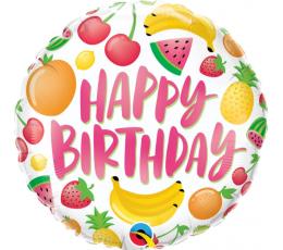 """Folija balons """"Dzimšanas dienas augļi"""" (45 cm)"""