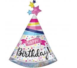 """Folija balons """"Dzimšanas dienas cepure"""" formā (68 x 91 cm)"""