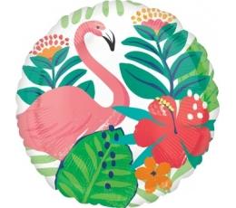 "Folija balons ""Flamingo ziedos"" (43 cm)"