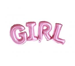 "Folija balons ""Girl"", rozā  (74x33cm)"