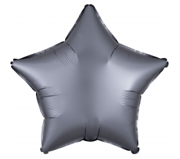 """Folija balons """"Grafīta krāsā zvaigzne"""", matēta (48 cm)"""