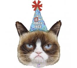 "Folija balons ""Grumpy Cat party"" (91 cm)"