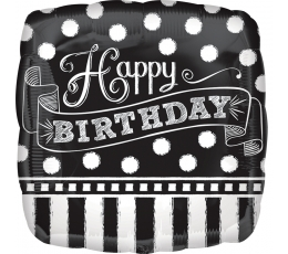 "Folija balons ""Happy Birthday"" (43cm)"