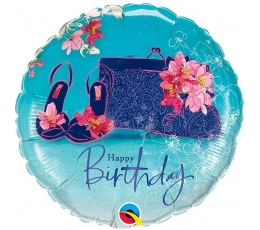 "Folija balons ""Happy Birthday"" (46 cm)"
