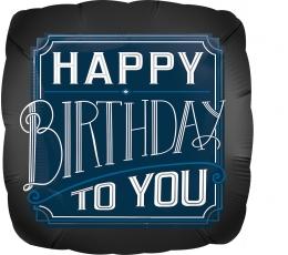 "Folija balons ""Happy Birthday Man"" (43 cm)"