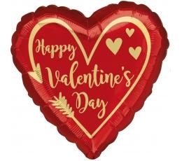 "Folija balons ""Happy Valentines day"" (17 x 43cm)"