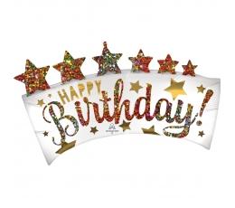 """Folija balons """"Karaliskā dzimšanas diena"""" (86 x 48cm)"""