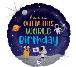 """Folija balons """"Kosmosa dzimšanas diena"""" (46 cm)"""