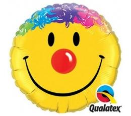 """Folija balons """"Krāsains smaidiņš"""" (91 cm)"""