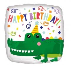"""Folija balons """"Krokodila dzimšanas diena"""" (43 cm)"""