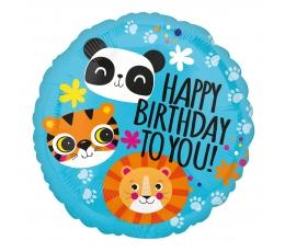 """Folija balons """"Lauva, tīģeris un panda"""" (43 cm)"""