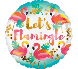 "Folija balons ""Let's flamingle"" (43 cm)"
